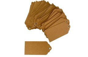 KRAFT TAG LABELS WITH EYELET HOLE